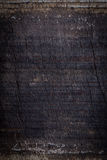 Black dark wood background, wooden board rough grain surface Royalty Free Stock Photos