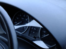 Black dashboard. Stock Image