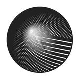 Black dashed concentric circles. Dashed concentric circles that makes a round shape. suitable for logo or other design vector illustration