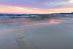 Black dawn-savage beach Royalty Free Stock Photo