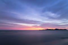 Black dawn-savage beach Stock Images