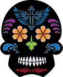 Black Day of the Dead Sugar Skull. Cool fun Day of the Dead Sugar Skull design, also available in format royalty free illustration