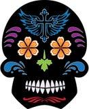 Black Day of the Dead Sugar Skull stock photos