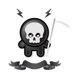Black death. On white background Stock Photo