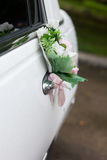 Black decorated wedding car Stock Photo