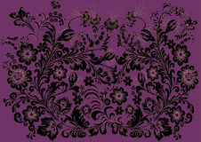 Black decoration on pink background Royalty Free Stock Photography