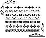 Black decorative borders - vector Stock Photos
