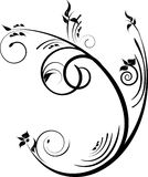 Black decorative design Royalty Free Stock Photos