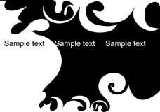 Black decorative design Royalty Free Stock Photography