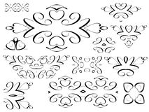 Black decorative elements Stock Photo