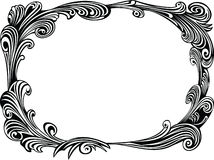Black decorative frame Royalty Free Stock Photos