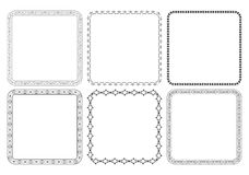 Black decorative frames with ornaments - vector Stock Images