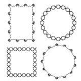 Black decorative frames on white background. Vector vector illustration