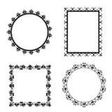 Black decorative frames on white background. Vector stock illustration