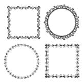 Black decorative frames on white background. Vector Royalty Free Illustration
