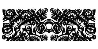 Black decorative pattern Stock Photos