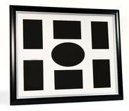 Black decorative photo frame. Multi frame set. With empty space Stock Photos