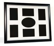 Black decorative photo frame. Multi frame set. With empty space stock photos