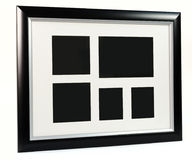 Black decorative photo frame. Multi frame set. With empty space Royalty Free Stock Image