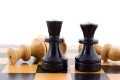 Black defeats white Stock Images