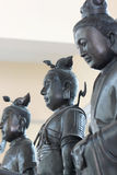 Black deity statues of Chinese religion. Royalty Free Stock Photography