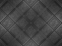 Black dekorerade tegelplattor Royaltyfria Bilder