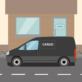 Black delivery Van Royalty Free Stock Images