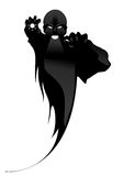 Black Demon. Demon magic cartoon evil people stock illustration