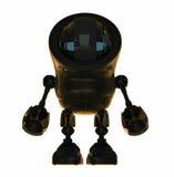 black den blanka roboten vektor illustrationer