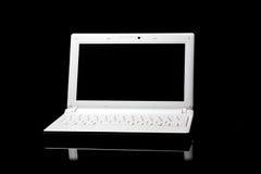 black den isolerade bärbar dator Royaltyfri Fotografi