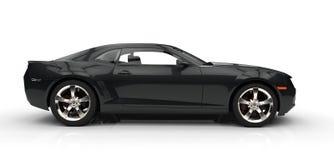 black den snabba bilen Royaltyfri Bild