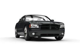 black den snabba bilen royaltyfria bilder