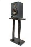black den sound högtalarestanden Fotografering för Bildbyråer