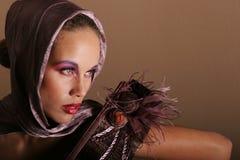 black den ursnygga kvinnan Royaltyfri Bild