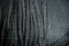 Black Denim fabric texture Royalty Free Stock Images