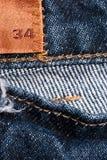 Black denim jeans texture Royalty Free Stock Photos
