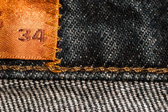 Black denim jeans texture Stock Photo