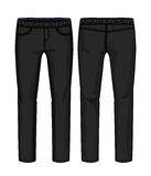 Black denim pants Stock Photos