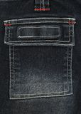 Black denim pocket Royalty Free Stock Photography
