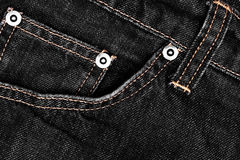 Black denim and stiches jeans texture Stock Image