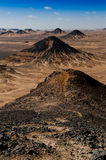 Black desert. A mountain in the Black Desert of Egypt Stock Images