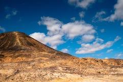 Black desert. A mountain in the Black Desert of Egypt Royalty Free Stock Images