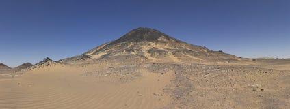 Black desert mountain Royalty Free Stock Photo