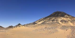 Black desert mountain, Oasis area, Egypt royalty free stock photos