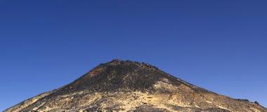 Black desert mountain, Oasis area, Egypt Stock Photos
