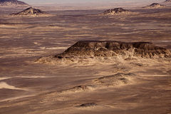 Black Desert in Sahara, western Egypt Royalty Free Stock Photography