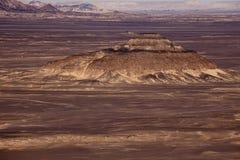 Black Desert in Sahara, western Egypt Royalty Free Stock Images
