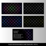 Black design business card template, abstract. Vector illustration Stock Photo