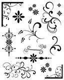 Black Design Elements. Set of black design elements and ornaments Royalty Free Stock Photography