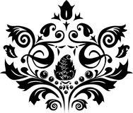 Black design of foliage Stock Photos